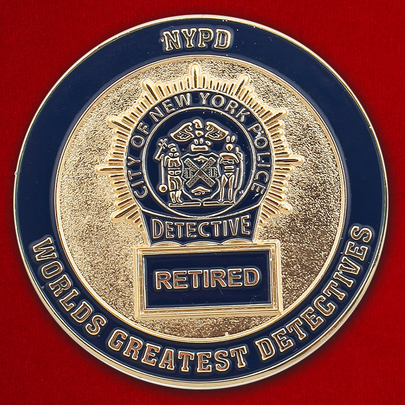 Челлендж коин ушедших в отставку сотрудников Управления полиции Нью-Йорка