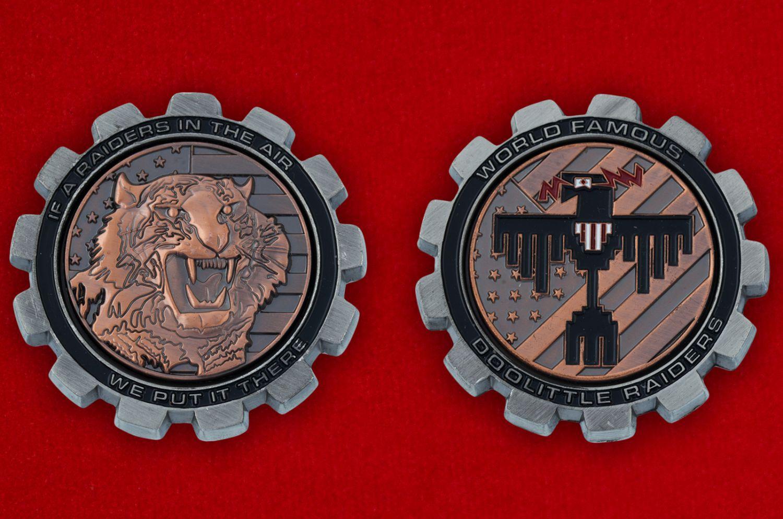 Челлендж коин в честь первого авиаудара бомбардировщиков ВВС США на Японию в 1942 году