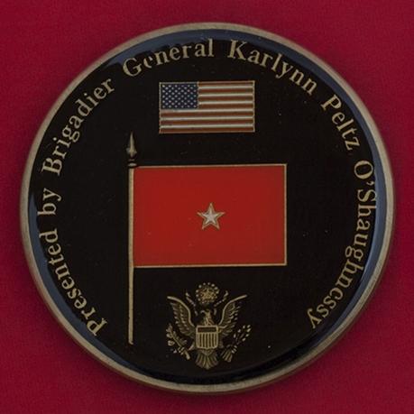 Челлендж коин в честь выхода в отставку бригадного генерала Армии США Карлин О