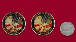 """Челлендж коин """"В память о годах службы в ВМС США"""" главных старшин корабельной полиции Тони и Вики Гайст"""