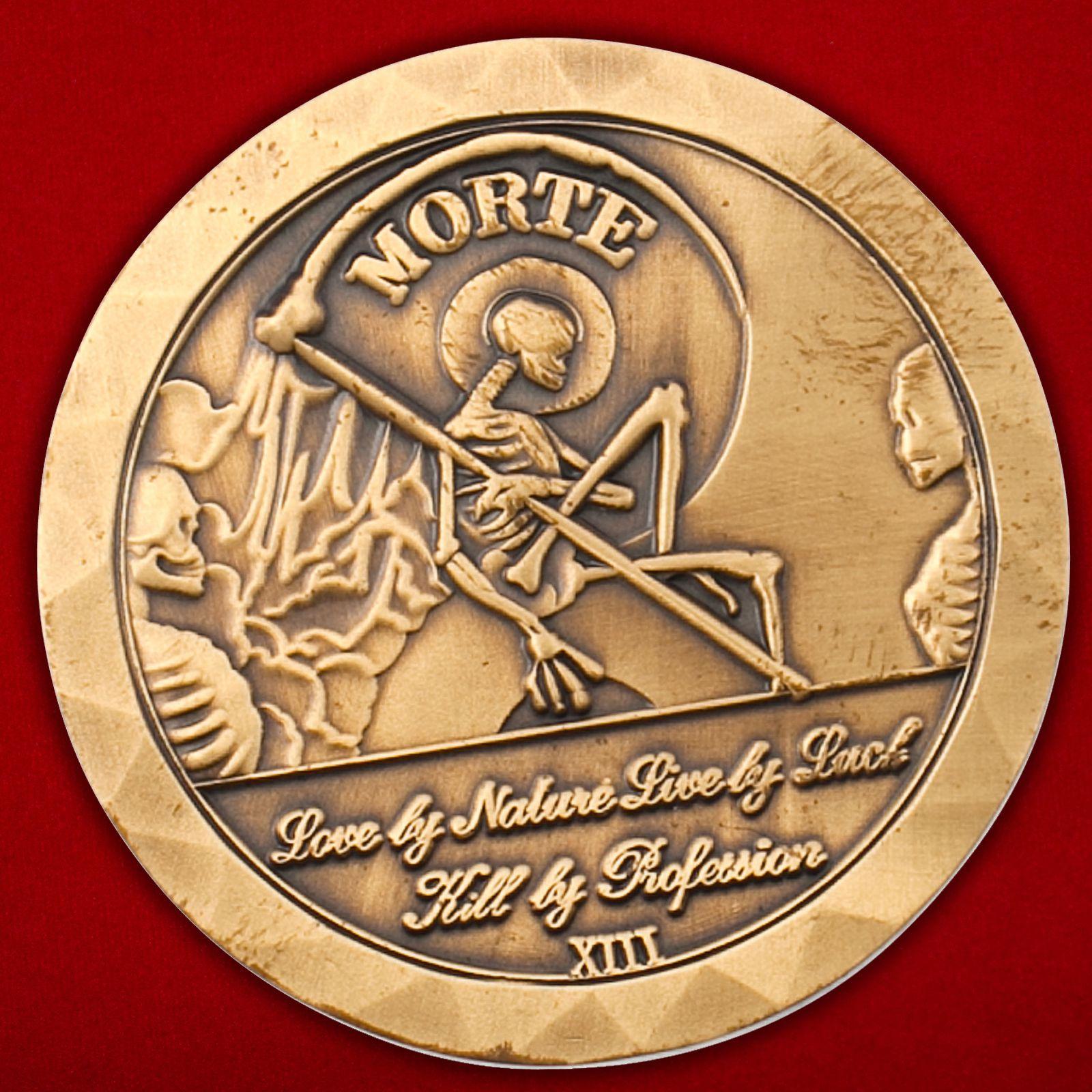 """Челлендж коин ветеранов спецназа Корпуса морской пехоты США """"Заговоренный на удачу"""""""