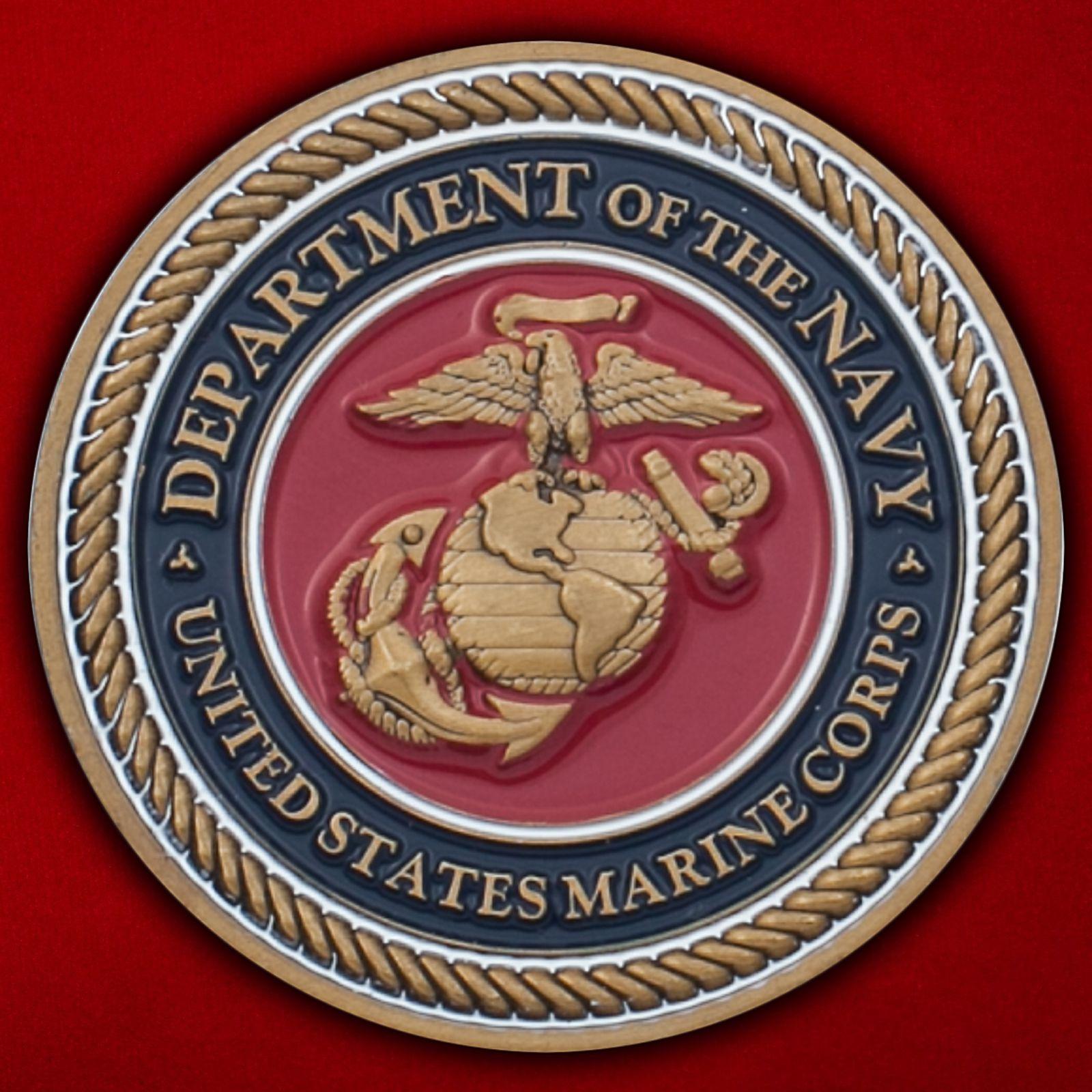 Челлендж коин ветеранов зарубежных войн Корпуса Морской пехоты США