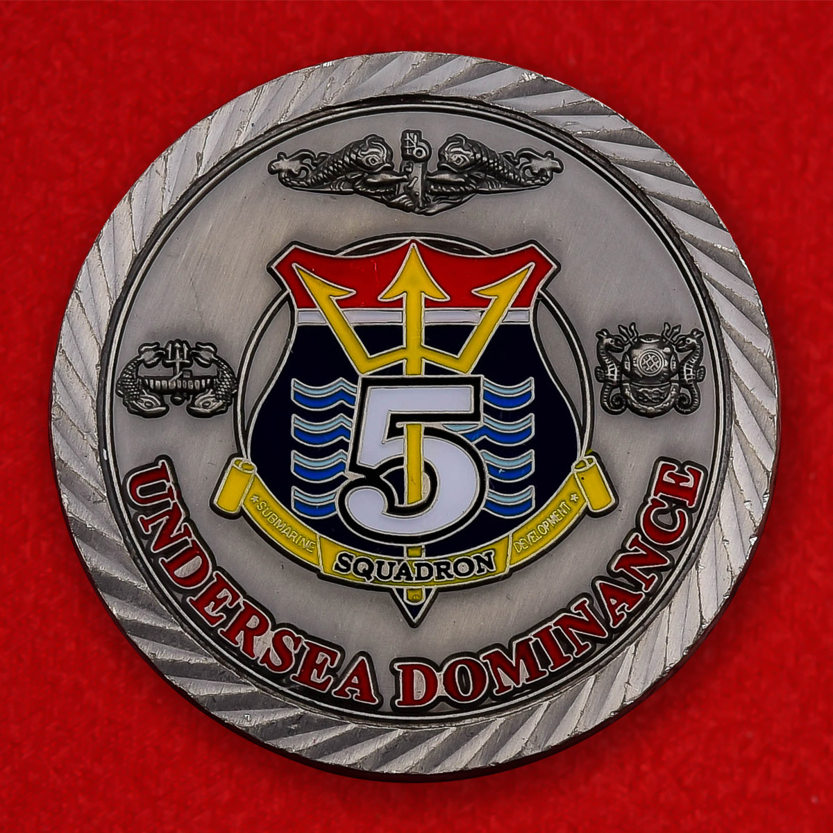 """Челлендж коин ВМС США """"5-я подводная эскадра"""""""