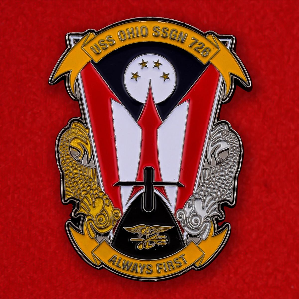 """Челлендж коин ВМС США """"Атомная подводная лодка """"Огайо"""" SSGN-726"""""""