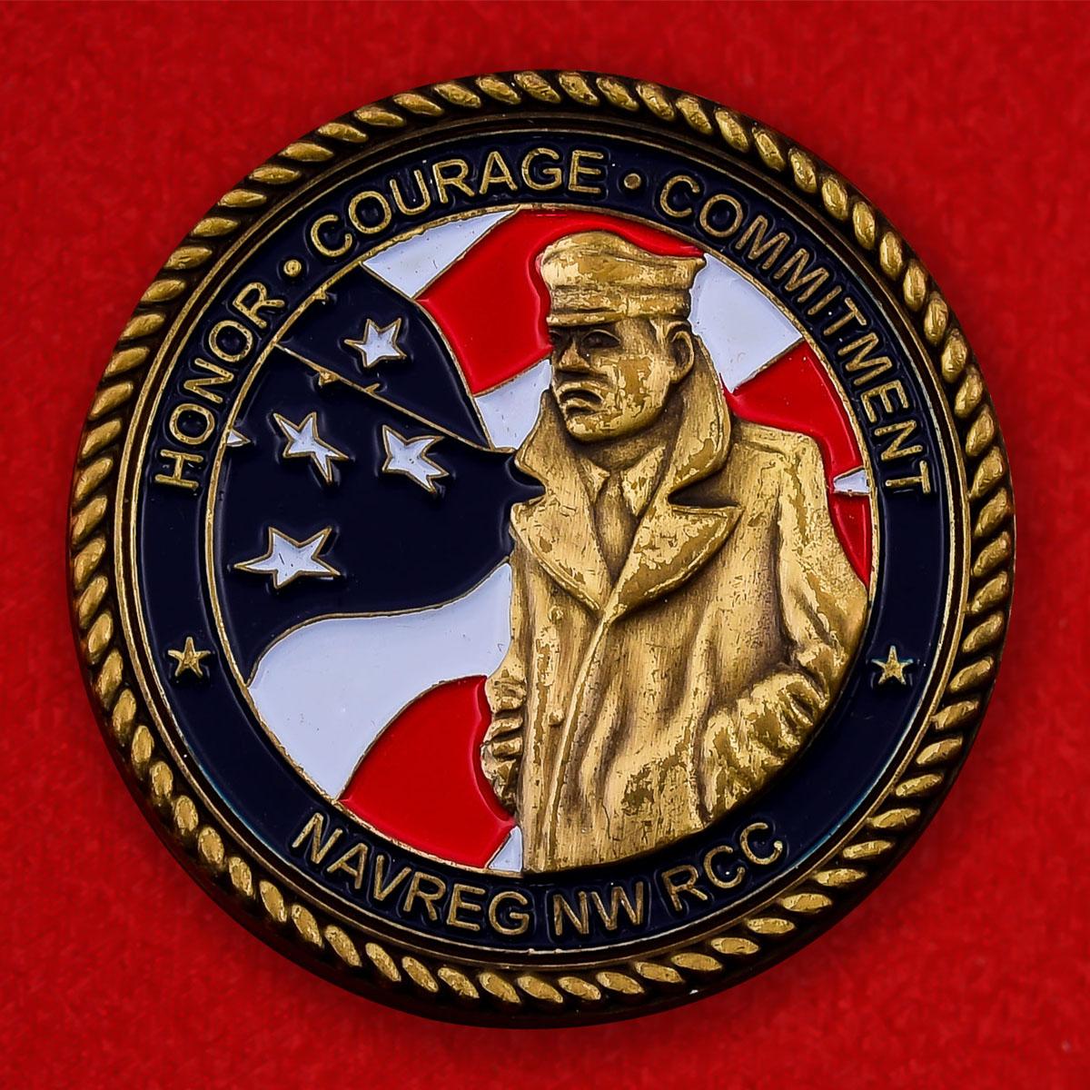"Челлендж коин ВМС США ""Командование резерва Северо-Западного региона"""