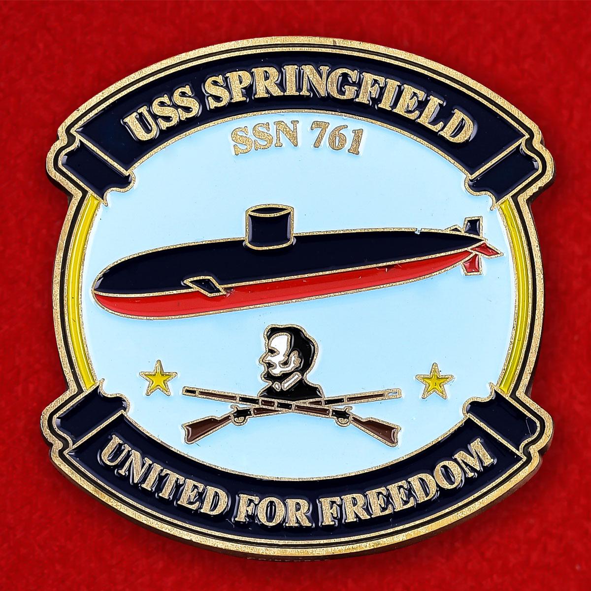 """Челлендж коин ВМС США """"Многоцелевая атомная подводная лодка Спрингфилд"""""""