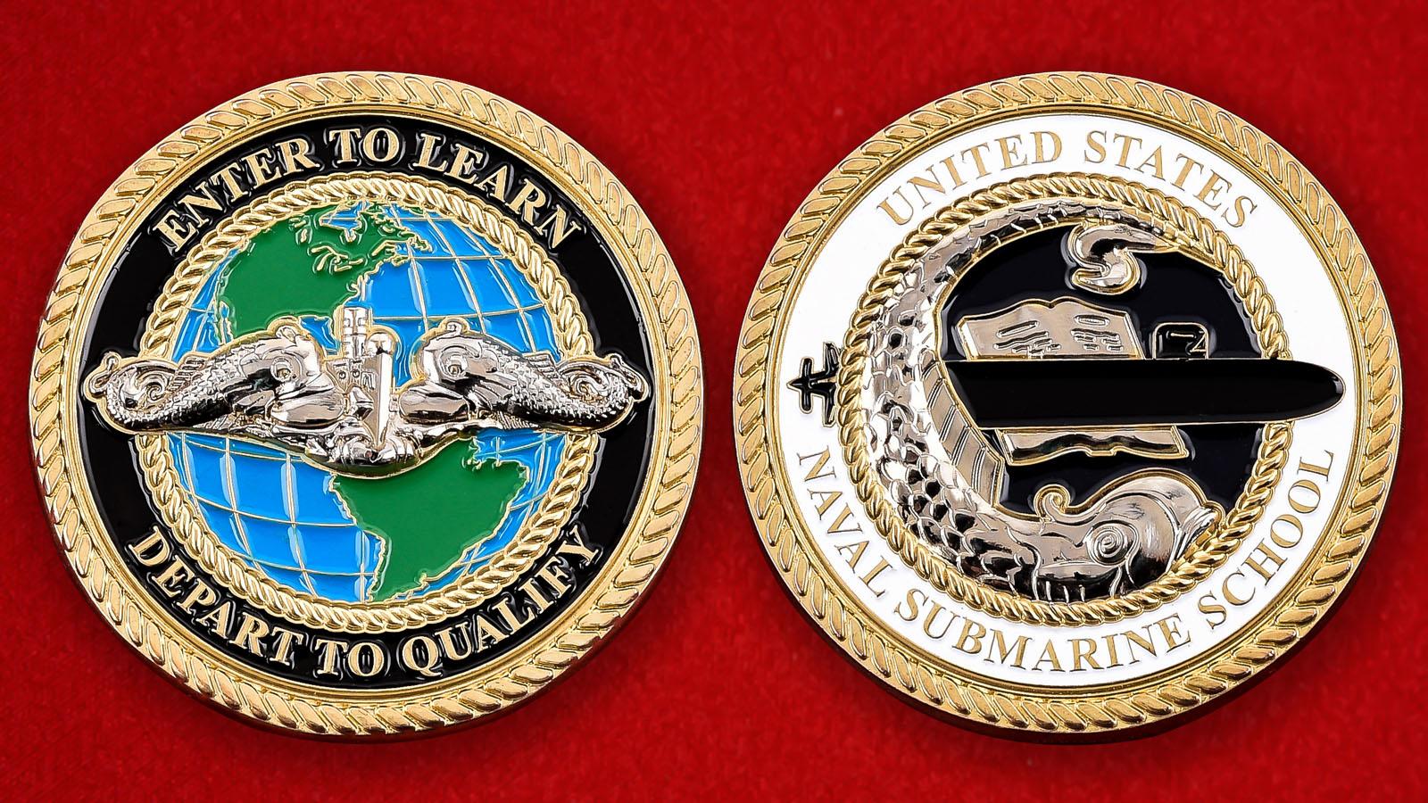"""Челлендж коин ВМС США """"Школа подготовки экипажей подводных лодок"""""""