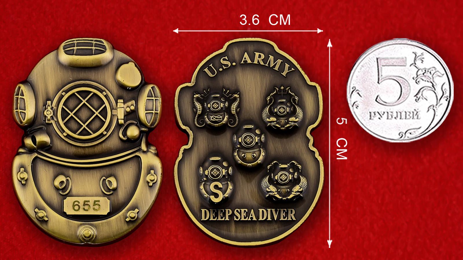 Челлендж коин водолазов Инженерного корпуса Армии США