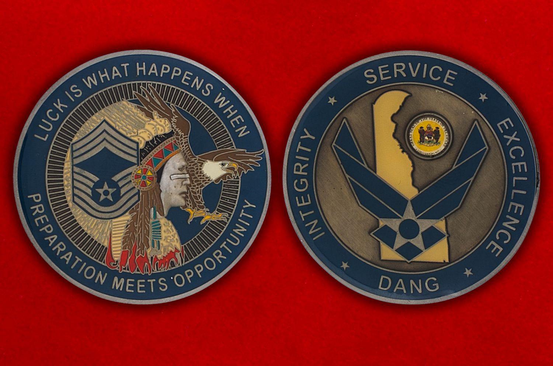 Челлендж коин ВВС Нацгвардии США (Штат Делавер) - аверс и реверс