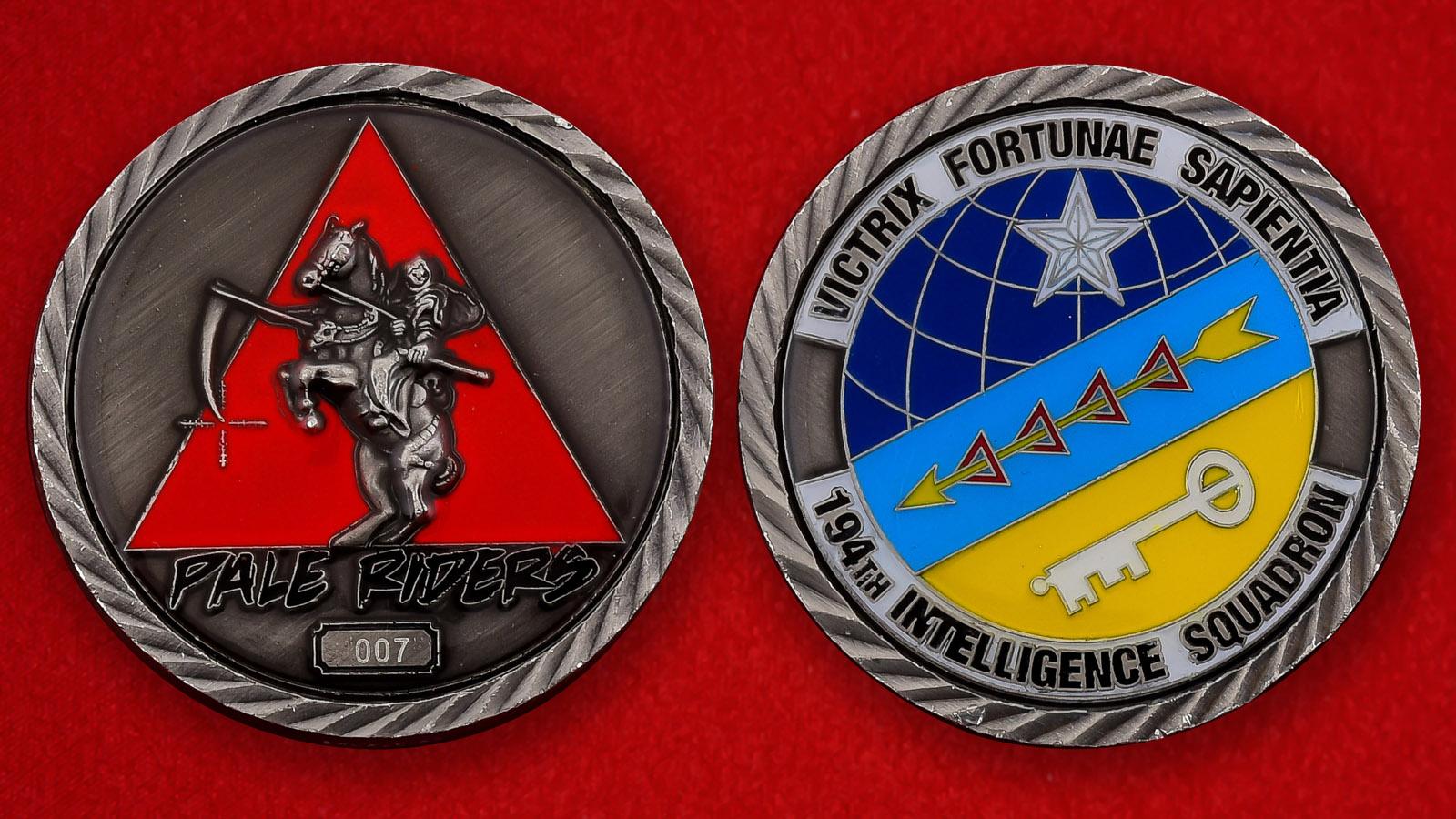 """Челлендж коин ВВС США """"194-я разведывательная эскадрилья"""""""