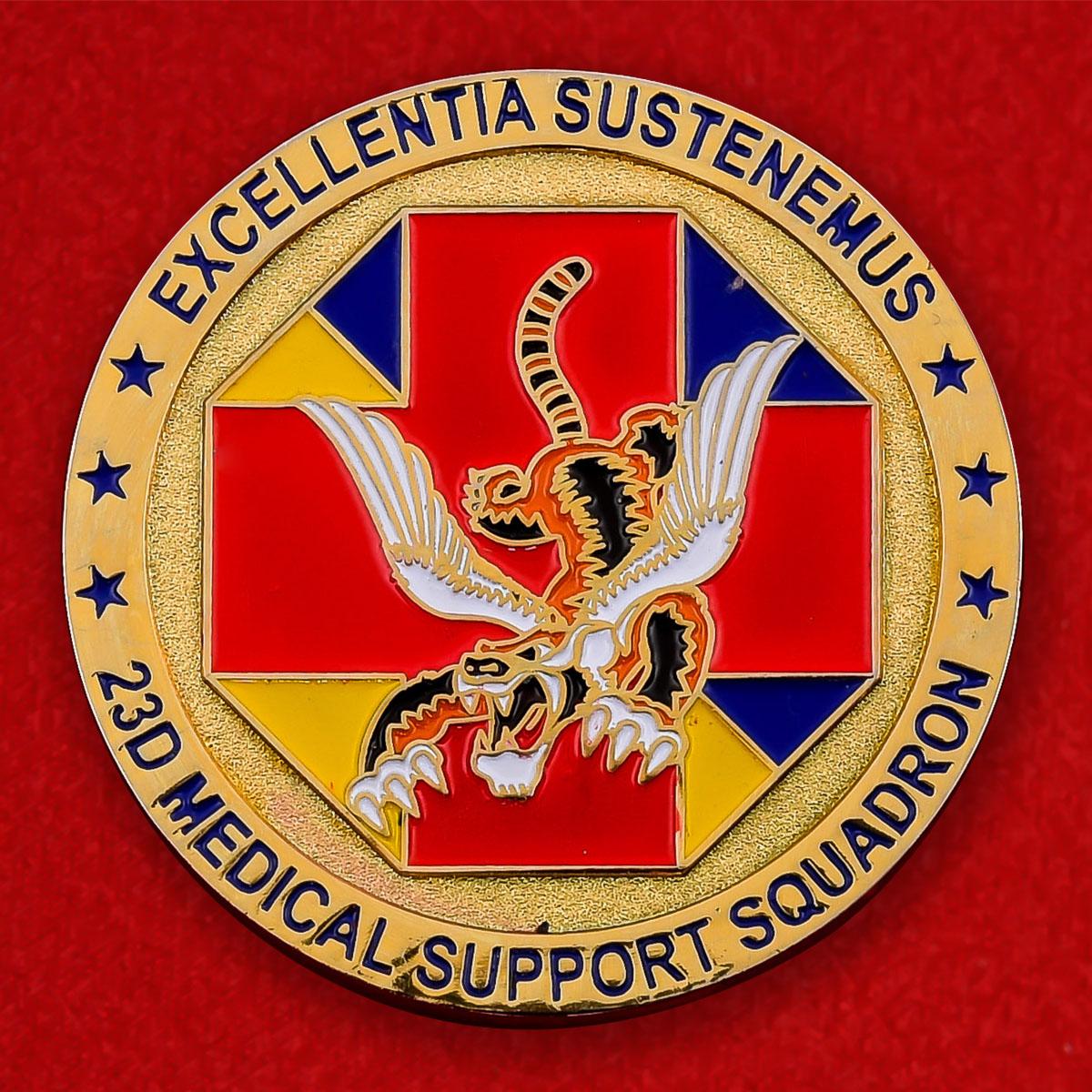 "Челлендж коин ВВС США ""23-я Медицинская эскадрилья, авиабаза Муди, Джорджия"""
