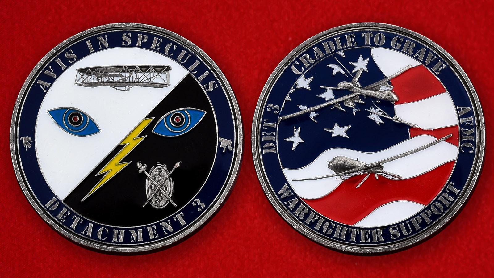 """Челлендж коин ВВС США """"3-й отряд Центра летных испытаний"""""""