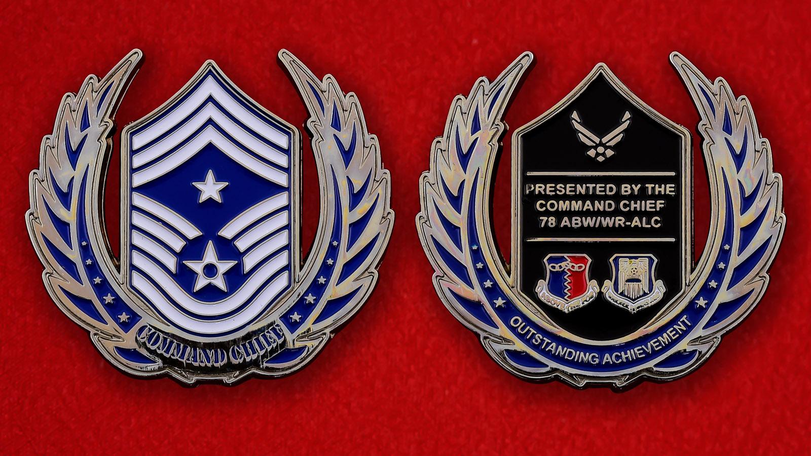 """Челлендж коин ВВС США """"78-му крылу от руководства авиабазы Робинс"""""""