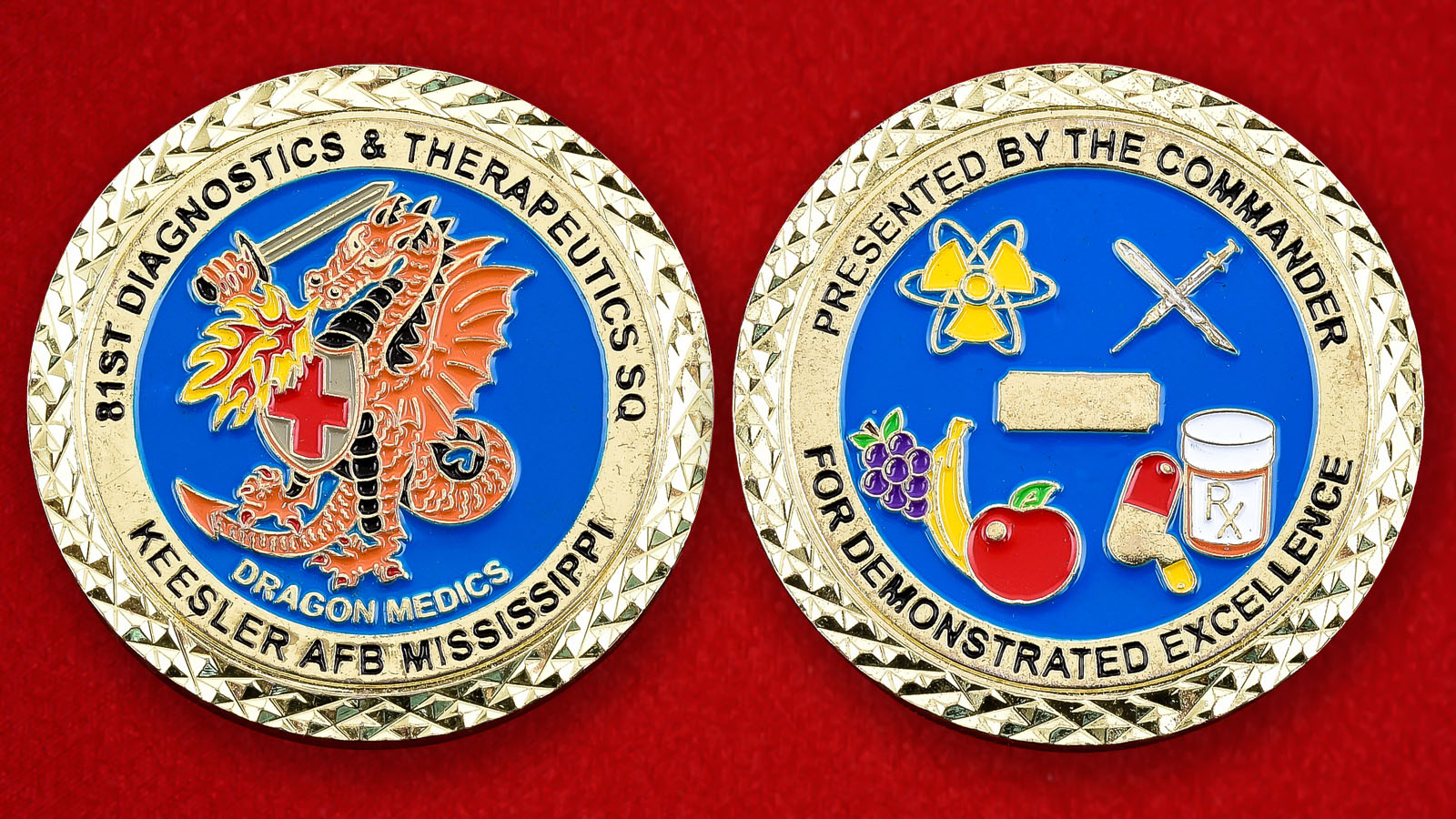 "Челлендж коин ВВС США ""81-е учебное крыло"""