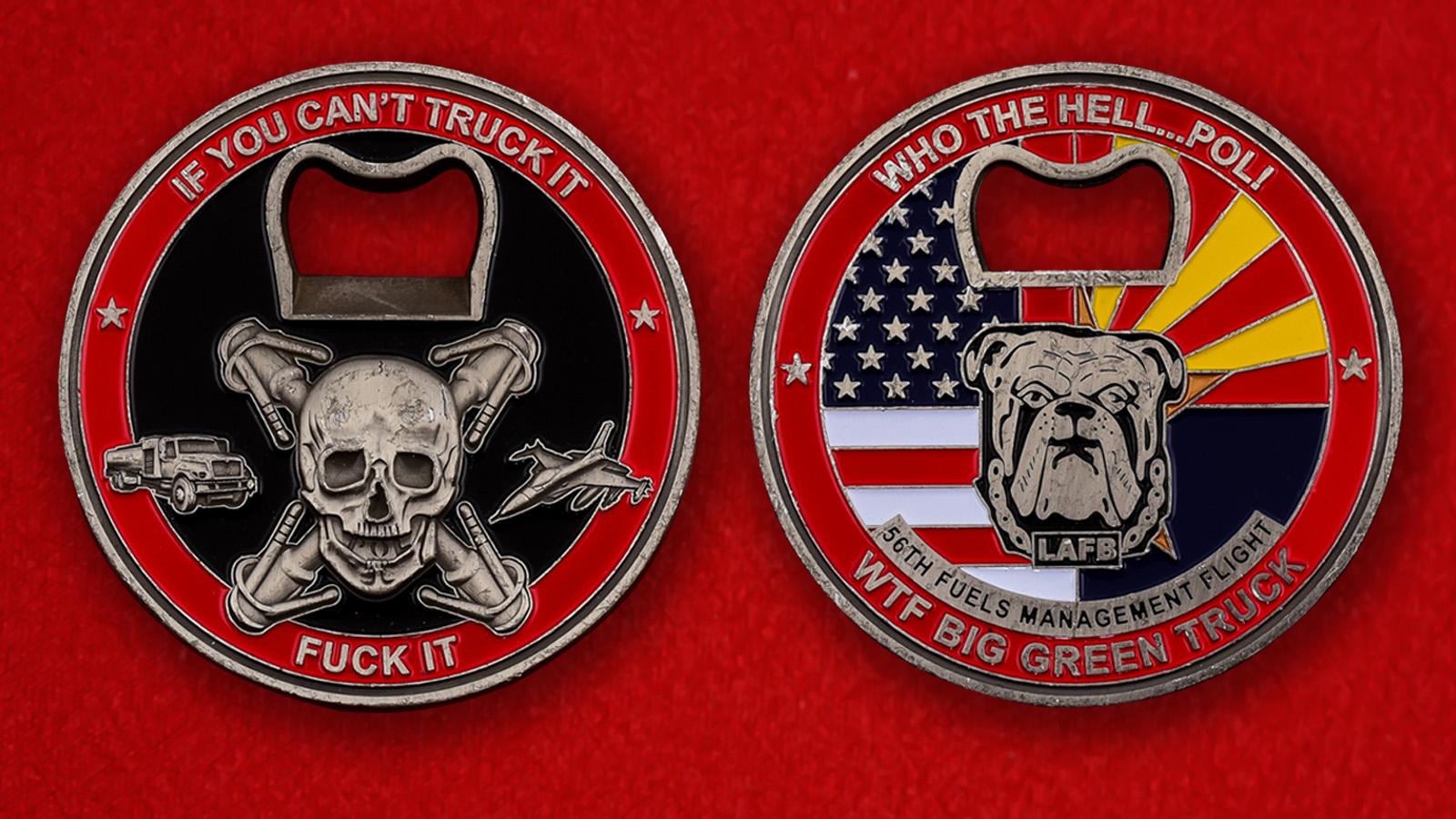 "Челлендж коин ВВС США ""Группа заправки самолетов 56 полка, авиабаза Люк"""