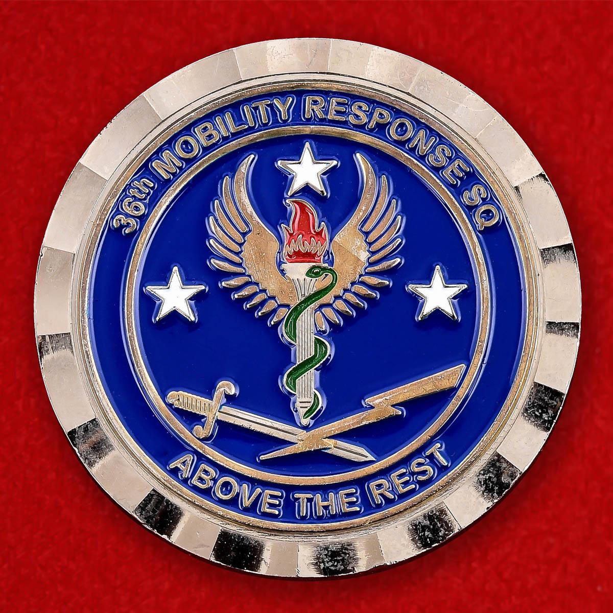 """Челлендж коин ВВС США """"От командира 36-й эскадрильи быстрого реагирования"""""""
