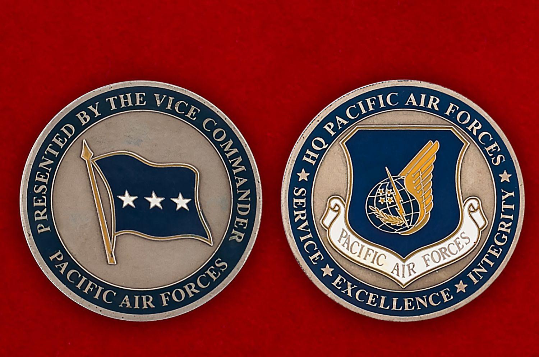 Челлендж коин ВВС США в зоне Тихого океана - аверс и реверс