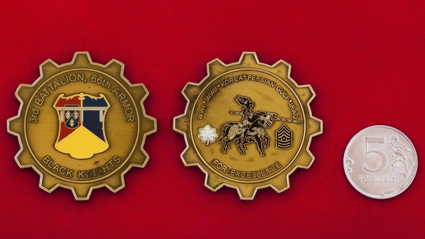 Челлендж коин За отличие 3-го батальона 66-го танкового полка Армии США