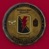 """Челлендж коин """"За отличие"""" командного состава 79-й пехотной модульной боевой бригады Армии США"""