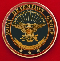 """Челлендж коин """"За отличие"""" командного состава группы постановки помех базы Гуантанамо"""