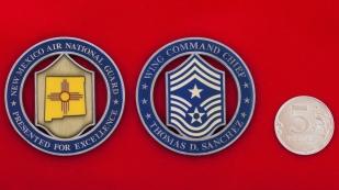 """Челлендж коин """"За отличие"""" от главного мастер-сержанта авиакрыла ВВС Нацгвардии Нью-Мексико"""