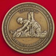 """Челлендж коин """"За отличие"""" от командования 7241-го медицинского отряда Армии США, Лексингтон, Кентукки"""