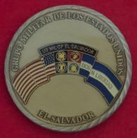 """Челлендж коин """"За отличие"""" от командования объединенного контингента войск США в Сальвадоре"""