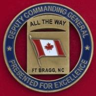 "Челлендж коин ""За отличие"" от заместителя командира 18-го воздушно-десантного корпуса Армии США"