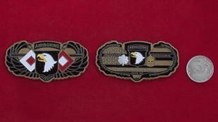 """Челлендж коин """"За отличие"""" сержантскому составу 101-й воздушно-десантной (десантно-штурмовой) дивизии Армии США от помощника начальника штаба по материально-техническому обеспечению"""