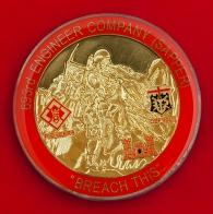 """Челлендж коин """"За отличие в бою"""" личного состава 693-й инженерно-саперной роты Армии США"""