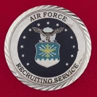 """Челлендж коин """"За отличную службу"""" вербовочного центра ВВС США"""