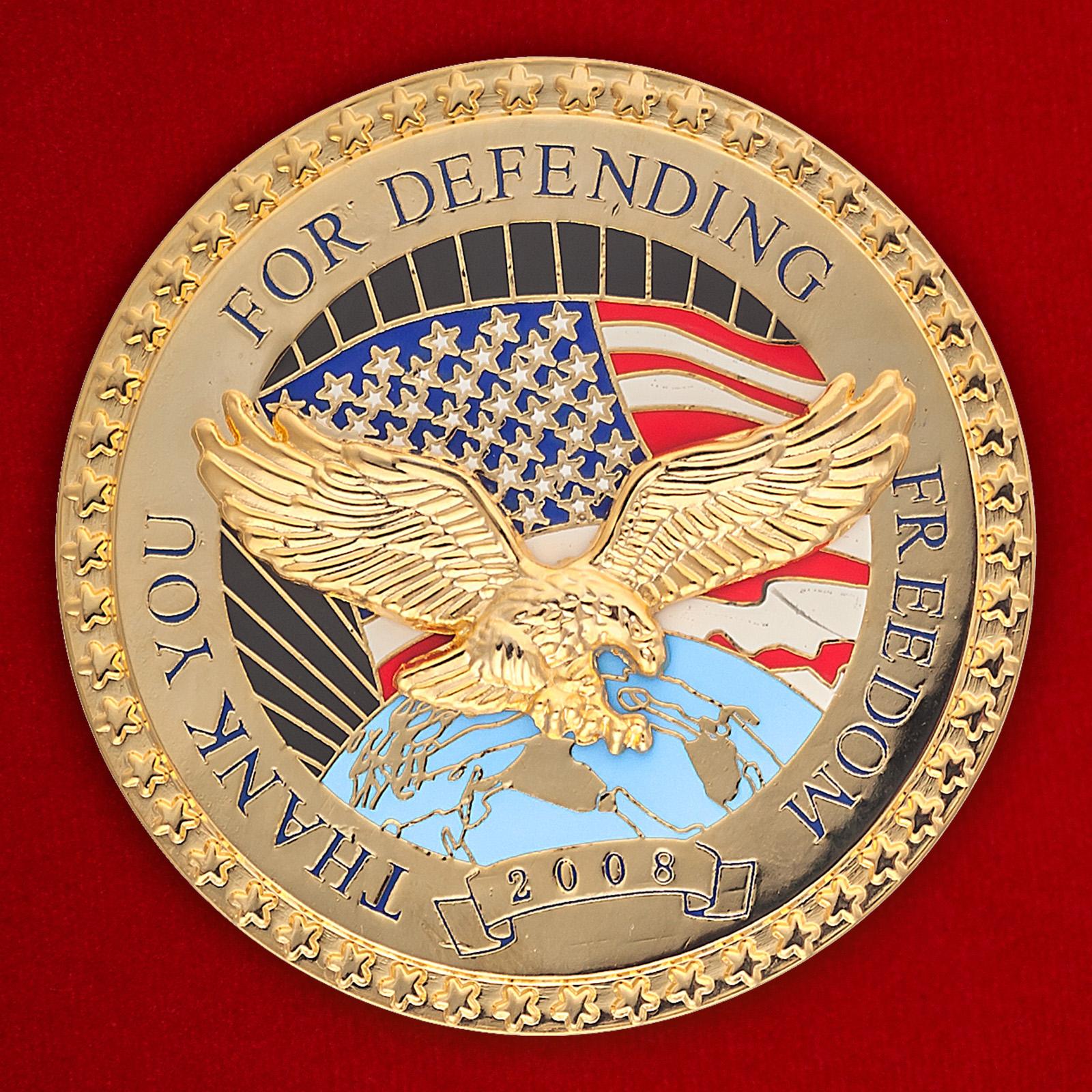 """Челлендж коин """"За защиту свободы в Ираке"""""""
