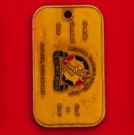 """Челлендж коин-жетон """"От командования"""" пункта обеспечения регионального учебного центра гарнизона Форт-Дикс Армии США"""