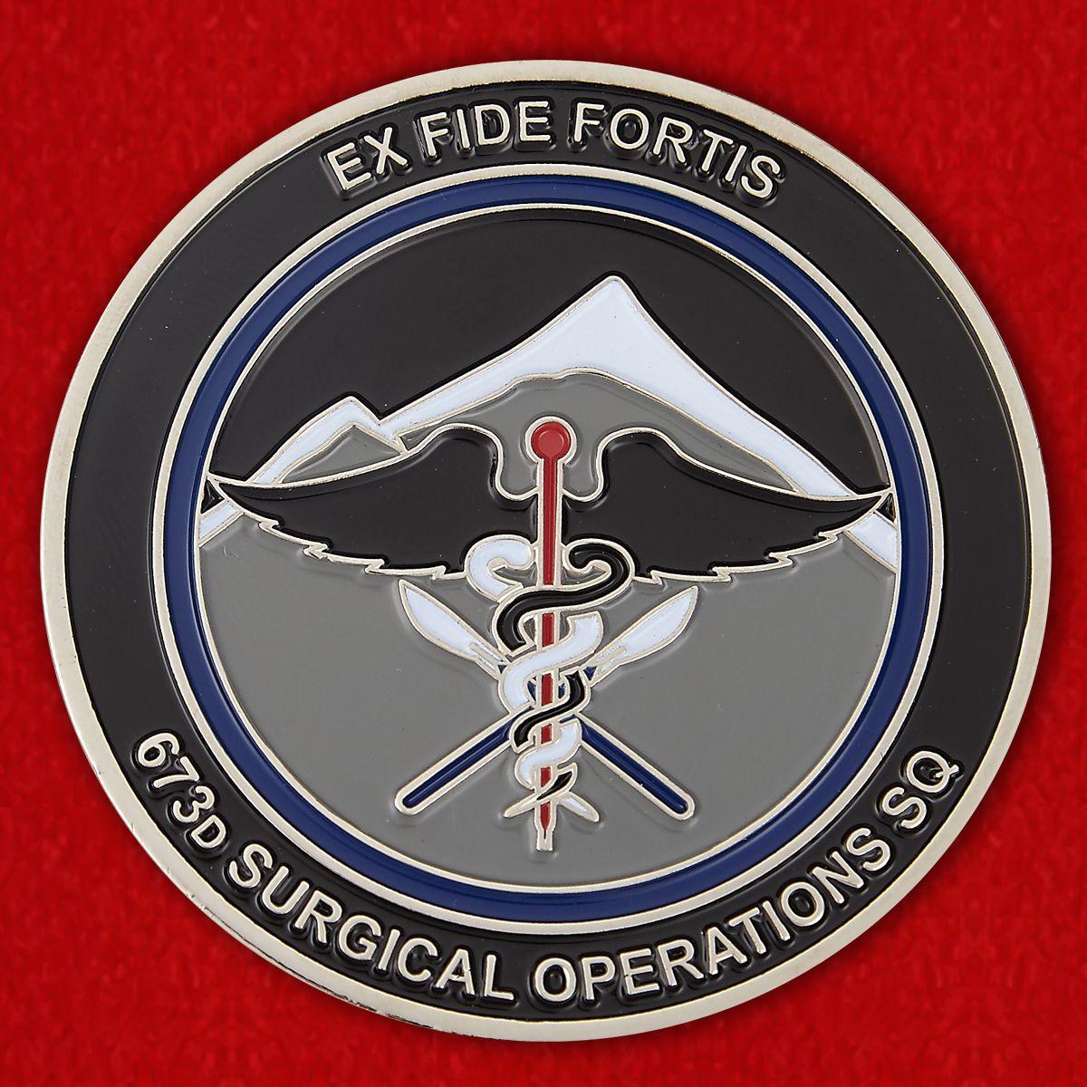 "Челлендж коин ""673-ей Хирургической эскадилье от командира"""