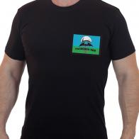 Черная футболка РАЗВЕДКА ВДВ