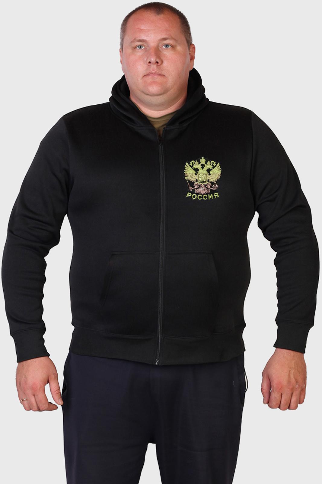 Недорогие фабричные толстовки с вышивкой РОССИЯ