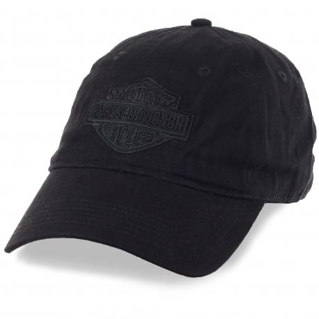 Черная байкерская бейсболка Harley-Davidson. Заказывай, если твоя философия свобода и скорость