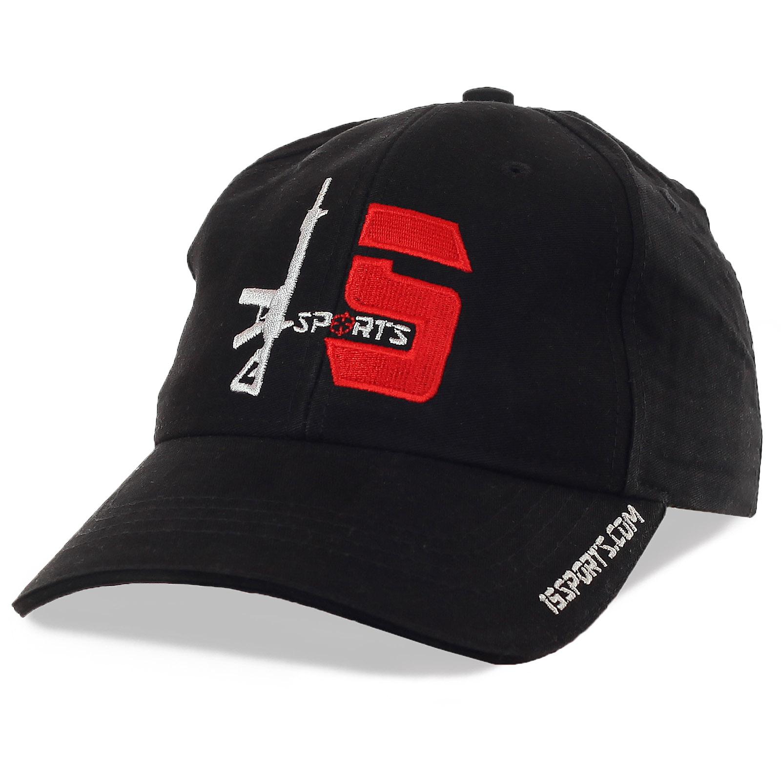 Черная брендовая бейсболка с фирменной вышивкой-логотипом – твой удобный городской стиль