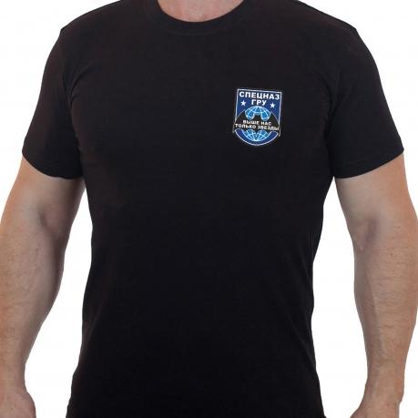 Черная футболка Спецназа ГРУ
