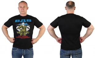 Мужская черная футболка ВДВ