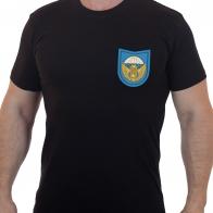 Черная армейская футболка с вышитым знаком 242-го УЦ ВДВ