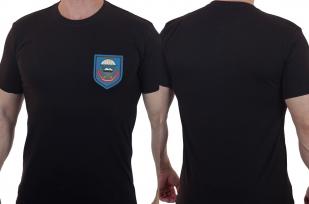 Черная армейская футболка с вышитым знаком ВДВ 108 ДШП - купить оптом