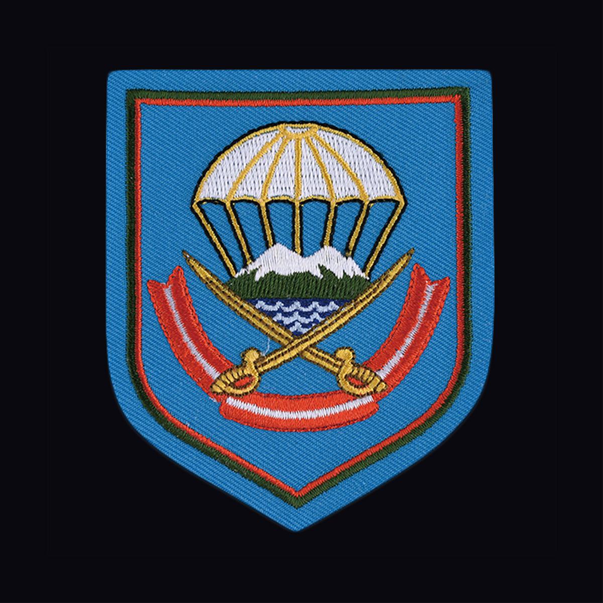 Черная армейская футболка с вышитым знаком ВДВ 108 ДШП - купить онлайн