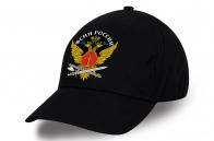 Черная однотонная бейсболка ФСИН – Федеральная служба исполнения наказаний.
