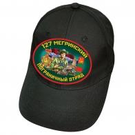 """Черная бейсболка """"127 Мегринский ПОГО"""""""