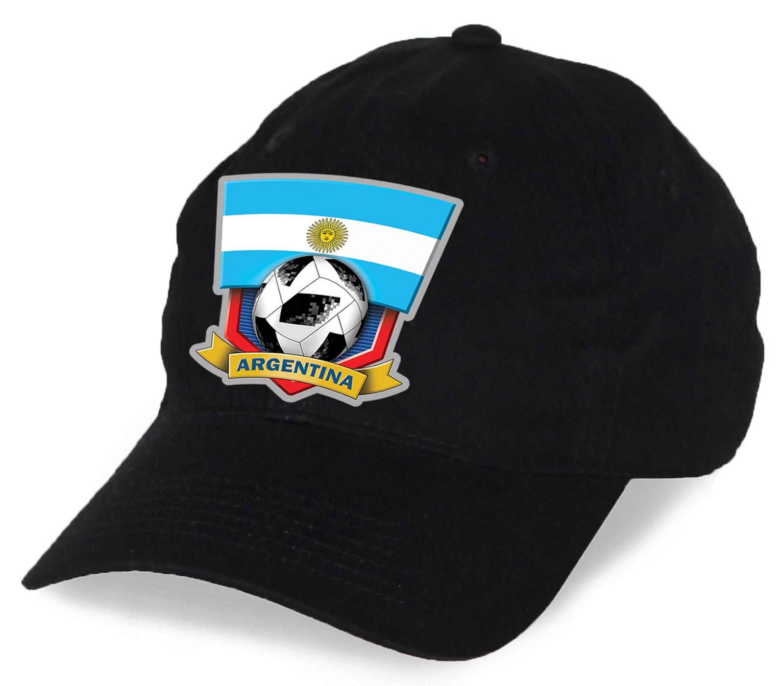 Черная бейсболка ARGENTINA