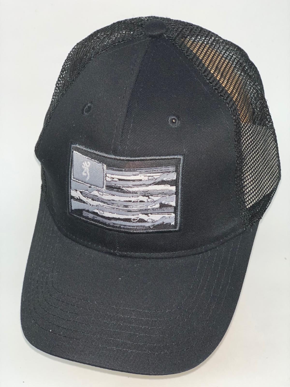 Черная бейсболка Browning с прямоугольной нашивкой и сеткой