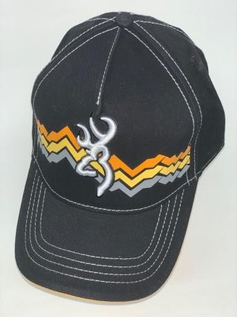 Черная бейсболка Browning с трехцветным принтом на тулье