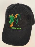 Черная бейсболка Costa Rica с вышитой лягушкой