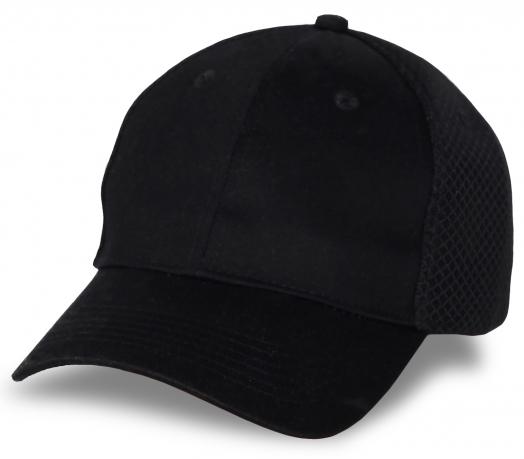 Черная бейсболка для шелкографии логотипов